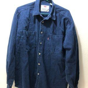 Levi's Red Tab Men's Dark Blue L/S Button Up